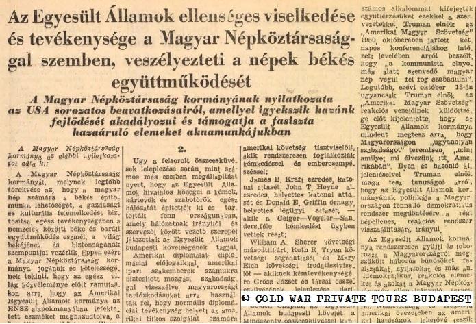 Communism, propaganda, 1951, USA, Hungary, diplomacy, cold war, private tour, Budapest, Hungary